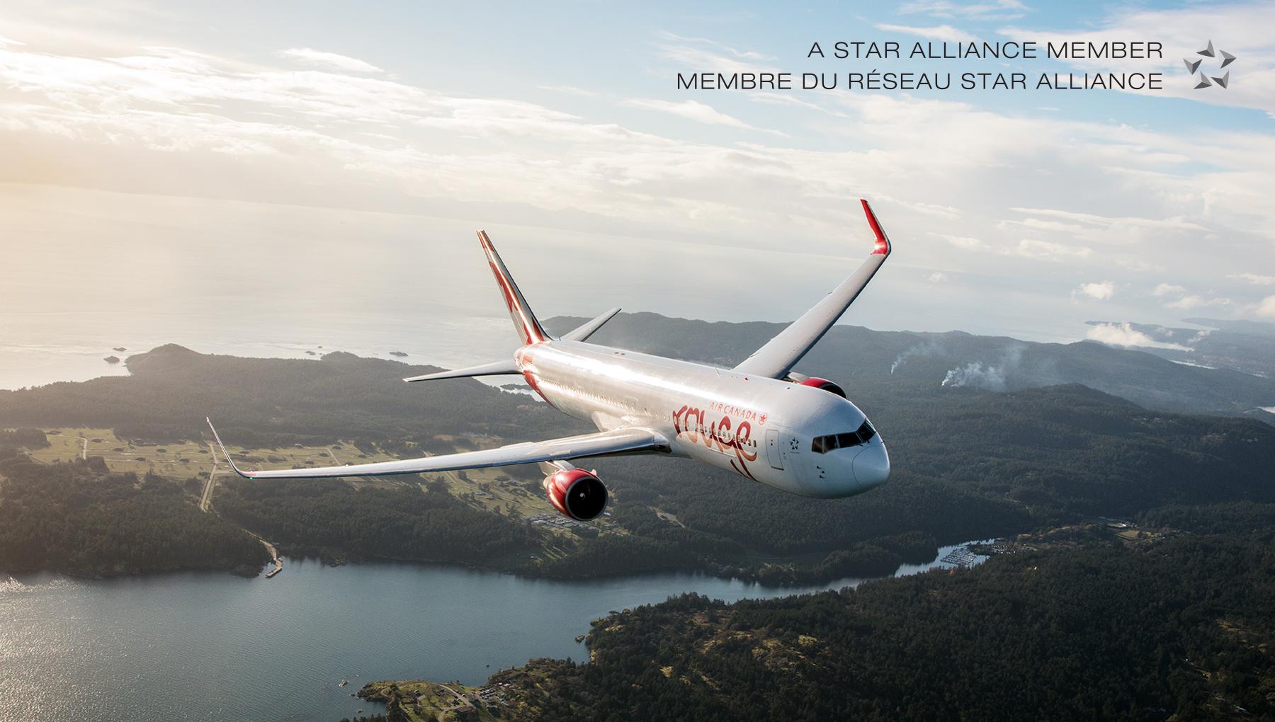 Les avantages de voyager avec Air Canada Rouge